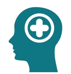 human profile healthcare icon vector image
