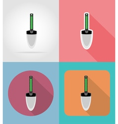 Garden tools flat icons 09 vector