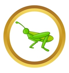 Grasshopper icon vector