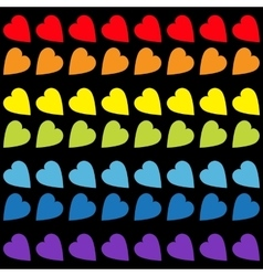 Rainbow heart set seamless pattern wrapping vector