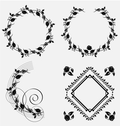 Ornament frame design resource vector