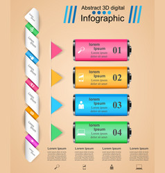Business infographics battery icon vector