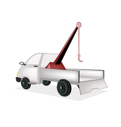 A Wrecker Tow Truck on White Background vector image
