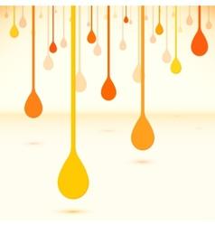 Orange drops in flat design style vector image