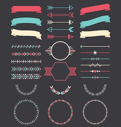 Various elements for design vector