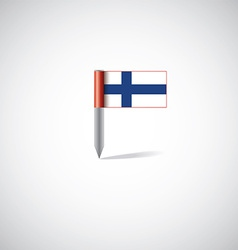 finland flag pin vector image
