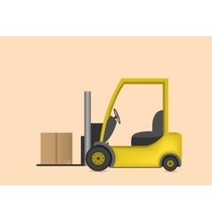 Lift truck with box vector