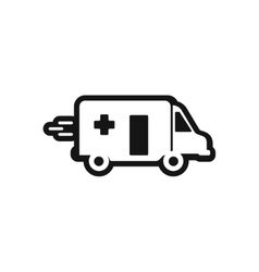 Stylish black and white icon ambulance car vector