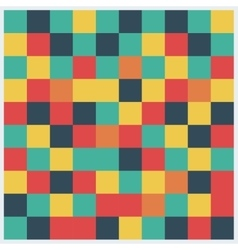 Abstract square pattern in yellow red green vector