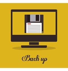 Back up design vector