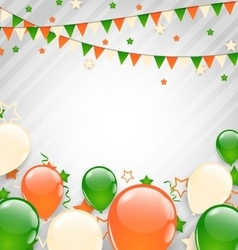 Buntings flags garlands and balloons vector