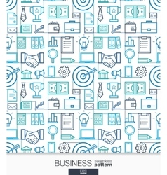 Business strategy wallpaper Marketing seamless vector image vector image