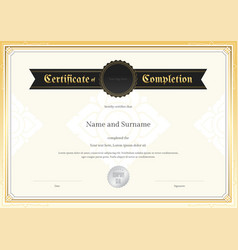 certificate completion template applied thai art vector image