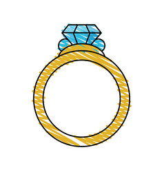 color crayon stripe image diamond engagement ring vector image