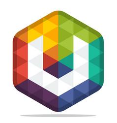 colorful hexagon logo vector image vector image