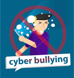 Cyber bullying boy background graphic vector
