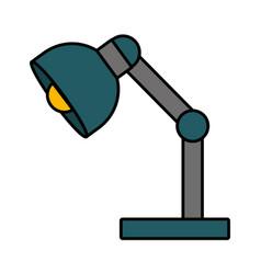 desk lamp icon vector image vector image