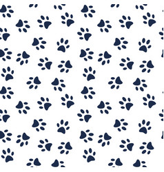 dog paw print seamless pattern vector image vector image