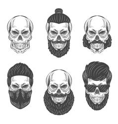 Dotwork skulls vector