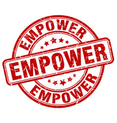 Empower red grunge stamp vector