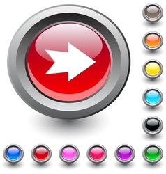 Forward arrow round button vector image vector image