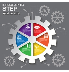 Gear info graphic design Business concept design C vector image vector image