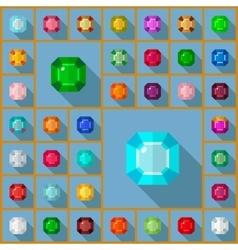 Gems asscher vector