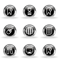 Glossy icon set 22 vector image vector image
