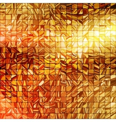 Gold mosaic background eps 10 vector