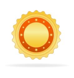 Golden badge vector image vector image