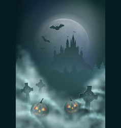 halloween night scene vector image
