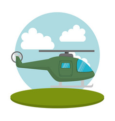 Helicopter flight transport icon vector