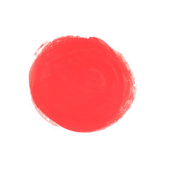 ink red circle with brush texture vector image vector image
