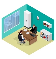 Job interview job applicants concept of hiring vector