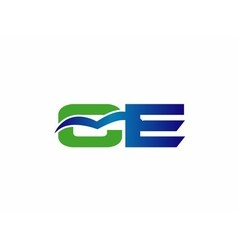 Letter c and e logo vector