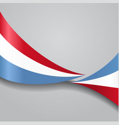 Luxembourg wavy flag vector