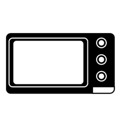 Microwave icon simple style vector