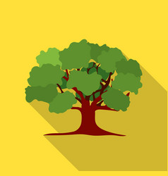 Oak icon in flat style for web vector