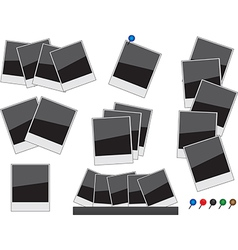 Photo frames glossy vector image