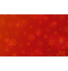 Red Christmas pattern of snowflakes vector image vector image
