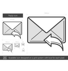 Reply line icon vector