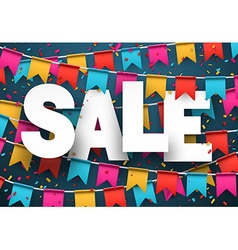 Sale celebration background vector image vector image