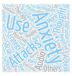 Strategies to overcome anxiety attacks part text vector