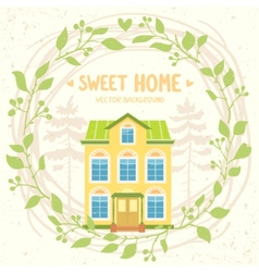 sweet home vector image