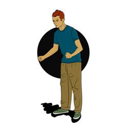 The man is dancing eps 8 vector