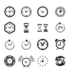 Time or clock icon isolated vector