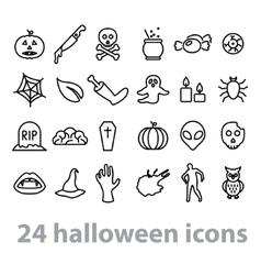 Twentyfour halloween icons collection vector