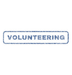 volunteering textile stamp vector image