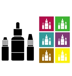 Fluid for electronic cigarettes vector