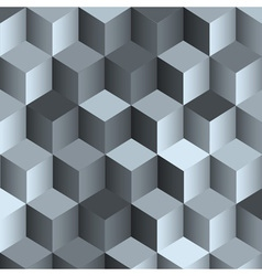 3d monochrome background with cubes vector